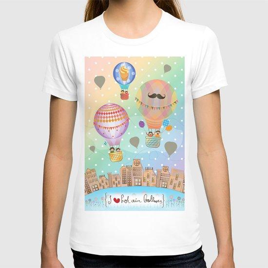 I {❤} Hot Air Balloon T-shirt
