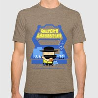 Walter's Laboratory  Mens Fitted Tee Tri-Coffee SMALL