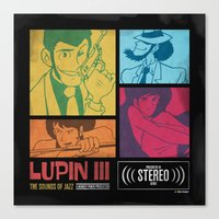 Lupin III Jazz Record Canvas Print