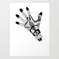 Henna II Art Print