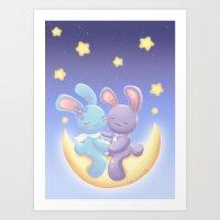 Moonlight Romance Art Print