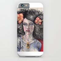 iPhone & iPod Case featuring She Had Hummingbirds in Her Hair by Nathan Ernst