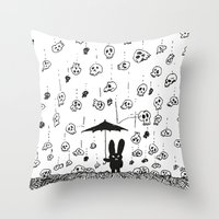 I'm Only Happy When It R… Throw Pillow
