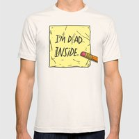 I'm Dad Inside Mens Fitted Tee Natural SMALL