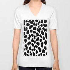 Animal Print Unisex V-Neck