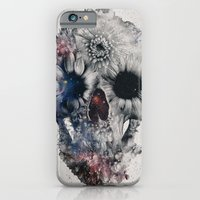 iPhone Cases featuring Floral Skull 2 by Ali GULEC