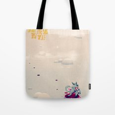 The Boy Who Carried the Big Bad Wolf Poster Tote Bag