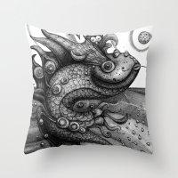 Miss Fish Throw Pillow