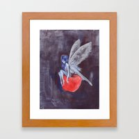 Fairy Loves Apple Framed Art Print