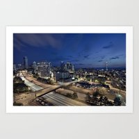 seattle Art Prints featuring Seattle by Aaron Morris