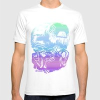 Monkeys in living Color Mens Fitted Tee White SMALL