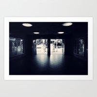 Abandoned Train Station,… Art Print