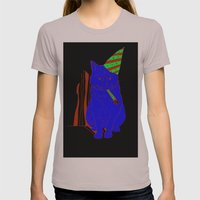Party Cat Womens Fitted Tee Cinder SMALL