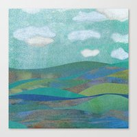 Canvas Print featuring COLLAGE LOVE: Seascape by Elephant Trunk Studio