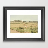 crossing::kenya Framed Art Print