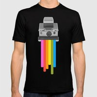 Taste the Rainbow Mens Fitted Tee Black SMALL