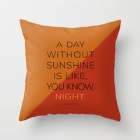 A Day Without Sunshine. Throw Pillow