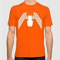 Symbiote Spider man Mens Fitted Tee Orange SMALL