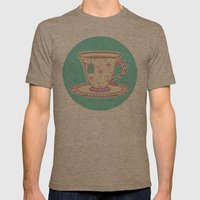 Flamingo Tea Mens Fitted Tee Tri-Coffee SMALL