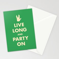live Long and Party On (Green) Stationery Cards