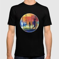 Street scene Mens Fitted Tee Black SMALL