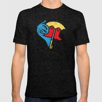 Hey Beautiful Mens Fitted Tee Tri-Black SMALL