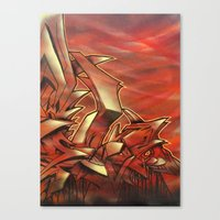 Deep Of Red Canvas Print