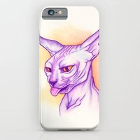 iPhone & iPod Case featuring Sphynx cat #02 by PaperTigress