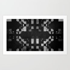 SHAD█WS Art Print