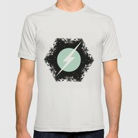 BOLT THROUGH PORTAL. Mens Fitted Tee Silver SMALL
