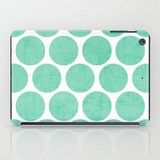 mint polka dots iPad Case