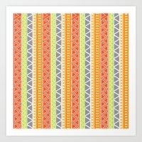 pattern series 094 tribal-esque Art Print