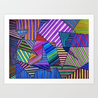 Colorful Lines Art Print
