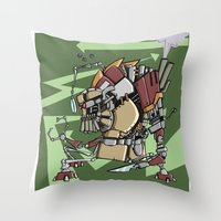 JunkBot Throw Pillow