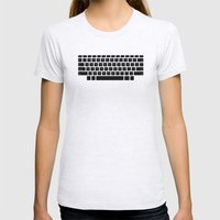Captain's Keyboard Womens Fitted Tee Ash Grey SMALL