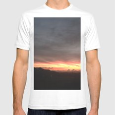 Fired Horizons Mens Fitted Tee White SMALL