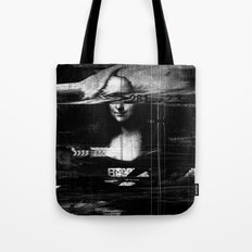 Mona Lisa Glitch Tote Bag