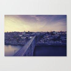 Porto across the bridge. Canvas Print