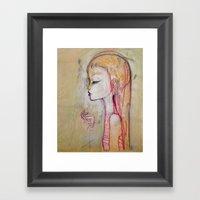 Tornado Lady Framed Art Print