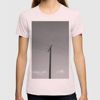 One For Four Womens Fitted Tee Light Pink SMALL