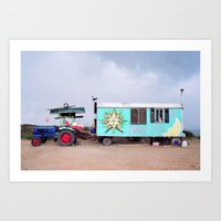 Happy Caravan Art Print