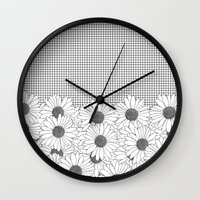 Daisy Grid Wall Clock