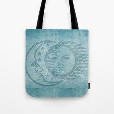 Sun Moon And Stars Batik Tote Bag