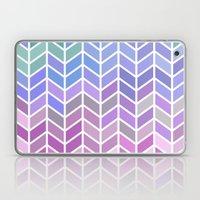 blue & purple chevron Laptop & iPad Skin