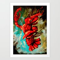 dance lobster Art Print