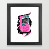 BLK HOLE Framed Art Print