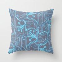 1982 Blue Throw Pillow
