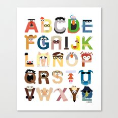 Muppet Alphabet Canvas Print