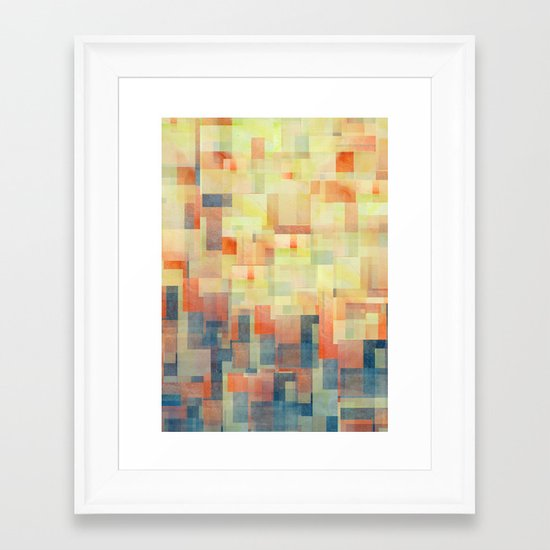 Cubism Dream (Brush Fire Remix) Framed Art Print