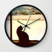 Tosca's Winter Window Wall Clock
